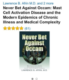 "Dr. Afrin's book ""Never Bet Against Occam"""