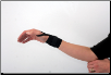 Black Elastic Wrist Wrap W/Thumb Loop